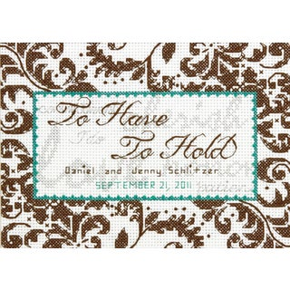Treasured Words Wedding Record Mini Counted Cross Stitch Kit7inX5in 14 Count