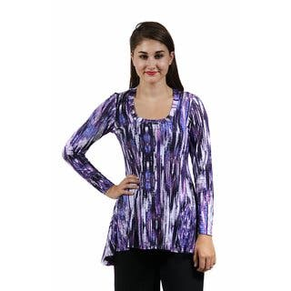 24/7 Comfort Apparel Women's Cool Abstract Printed Tunic https://ak1.ostkcdn.com/images/products/10573890/P17650539.jpg?impolicy=medium