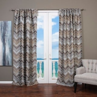 Faiz Jacquard Chevron Design Curtain Panel