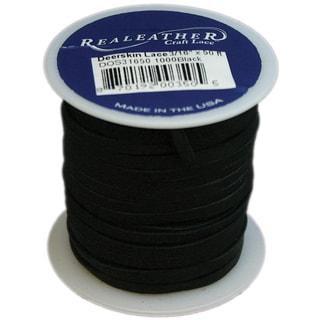 Deerskin Lace .125inX50' SpoolBlack