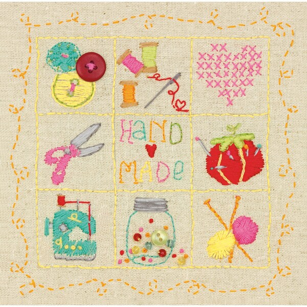 Shop Amy Powers Handmade Embroidery Sampler Kit6inx6in Stitched In