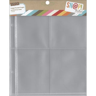 Sn@p! Pocket Pages For 6inX8in Binders 10/PkgVariety Pack