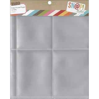 Sn@p! Pocket Pages For 6inX8in Binders 10/Pkg(4) 3inX4in Pockets