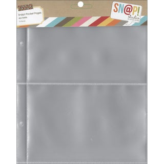 Sn@p! Pocket Pages For 6inX8in Binders 10/Pkg(2) 4inX6in Pockets