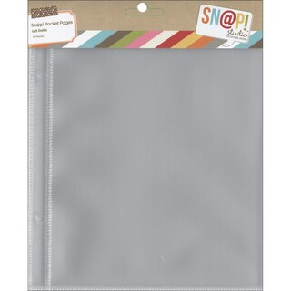 Sn@p! Pocket Pages For 6inX8in Binders 10/Pkg(1) 6inX8in Pocket