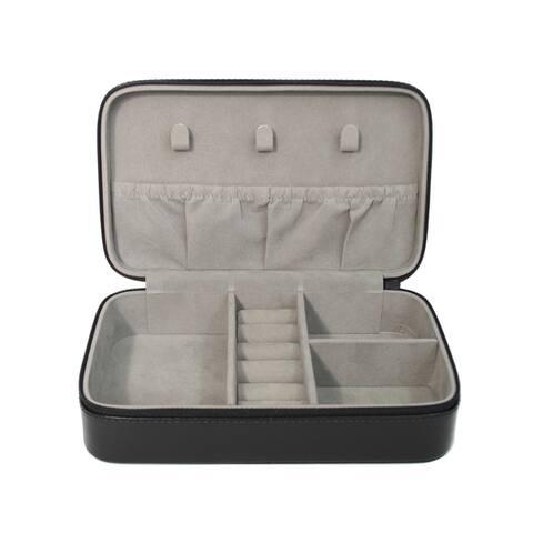 Royce Leather Luxury 4-slot Jewelry Display Storage Case
