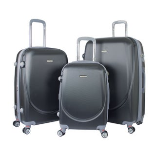 Traveler's Club Barnet 2.0 3-Piece Hardside Expandable Double-Spinner Luggage Set (3 options available)