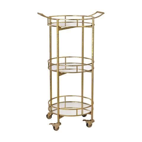 Sterling Gold Leaf Bar Cart