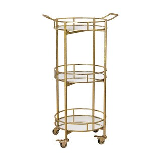 Sterling Gold Leaf Bar Cart