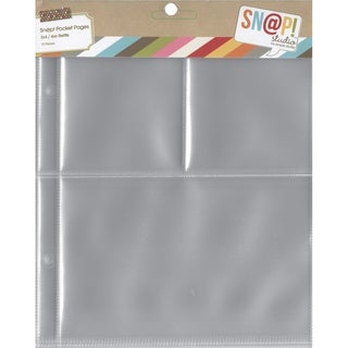 Sn@p! Pocket Pages For 6inX8in Binders 10/Pkg(1) 4inX6in & (2) 3inX4in Pockets