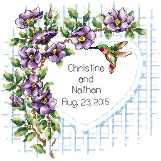Garden Trellis Counted Cross Stitch Kit10inX10in 14 Count