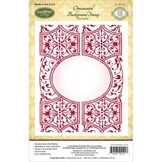 JustRite Papercraft Cling Background Stamp 4.5inX5.75inOrnamental