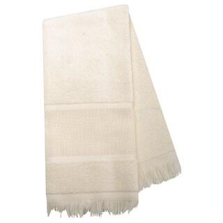 Maxton Velour Guest Towel 14 Count 12inX19.5inEcru