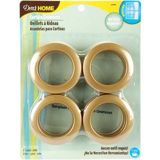 Curtain Grommets 19/16in Inner Diameter Plastic 8/PkgBrass