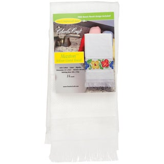 Maxton Velour Guest Towel 14 Count 12inX19.5inWhite