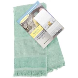 Maxton Velour Guest Towel 14 Count 12inX19.5inLight Seafoam