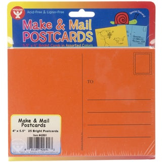 Mighty Bright Make & Mail Postcards 4inX5.5in 25/PkgAssorted Bright Colors