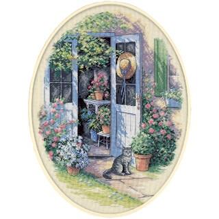 Garden Door Counted Cross Stitch Kit12inX16in 14 Count