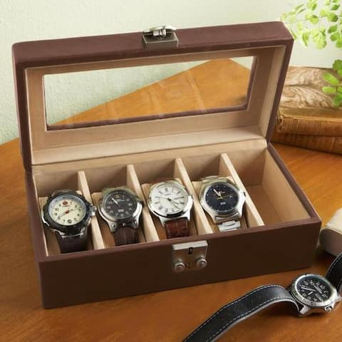 Royce Leather Luxury 5-slot Watch Box Display Case