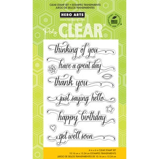 Hero Arts Clear Stamps 4inX6in SheetMessages W/Flourish