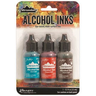 Adirondack Brights Alcohol Ink .5oz 3/PkgMarinerIndigo/Mermaid/Teakwood