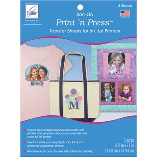 Print 'n Press IronOn Transfer Paper 8.5inX11in 3/PkgWhite