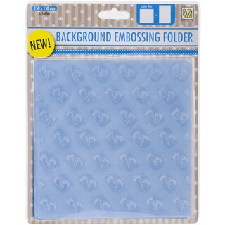 Nellie's Choice Background Embossing Folder 6inX6inBaby