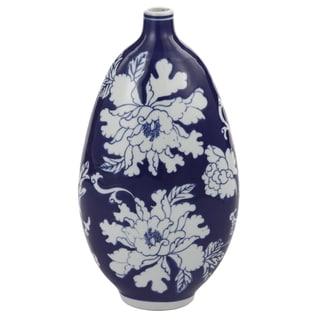 Kathy Ireland Home Blue Ceramic Vase