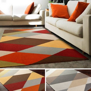 Hand-Tufted Asyut Wool Rug (5' x 8')