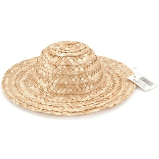 Round Top Straw Hat 14inNatural