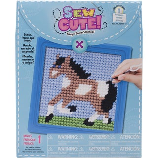 Horse Learn To Sew Needlepoint Kit6inX6in Stitched In Yarn
