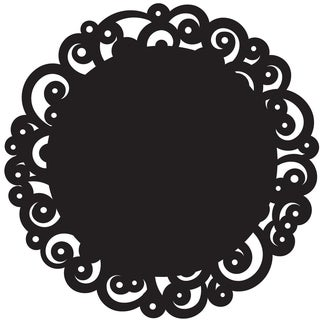 Doilies 12in Round 6/PkginBlack Swirl