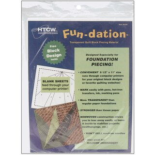FunDation Quilt Block Piecing Material8.5inX11in 25/Pkg