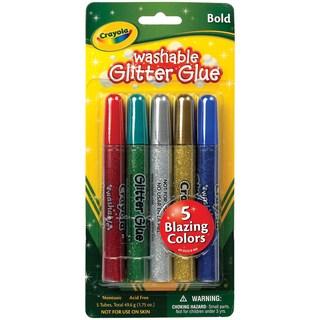 Crayola Washable Glitter Glue Pens .35ozBold 5/Pkg