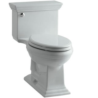 Kohler Memoirs Comfort Height 1-piece 1.28 GPF Elongated Toilet with AquaPiston Flushing Technology in Ice Grey