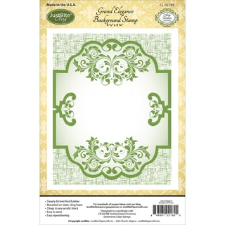 JustRite Papercraft Cling Background Stamp 4.5inX5.75inGrand Elegance
