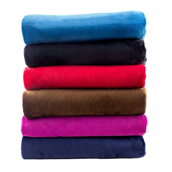 Solid Super Soft Plush Oversized Throw
