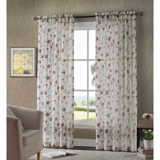 VCNY Hughes Printed Crushed Voil Sheer Curtain Panel Pair