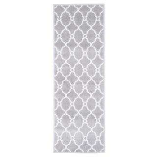 "Windsor Home Lattice Area Rug - Grey & Ivory - 1'8""x5'"