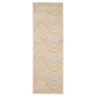"Windsor Home Modern Waves Area Rug - Beige - 1'8""x5'"