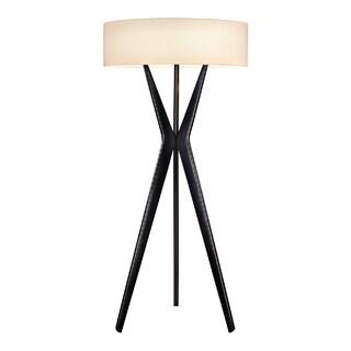 Sonneman Lighting Bel Air Large Satin Black Floor Lamp