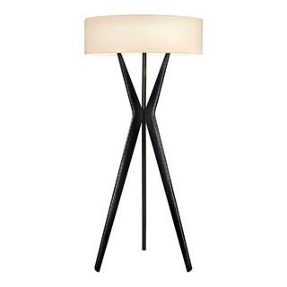 Sonneman floor lamps for less overstock sonneman lighting bel air large satin black floor lamp aloadofball Images