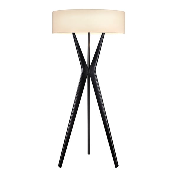 Sonneman Lighting Bel Air Large Satin Black Floor Lamp