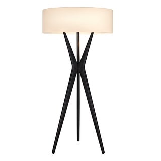 Sonneman Lighting Bel Air Small Satin Black Floor Lamp