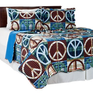 Windsor Home 2 Piece Peace Twin Size Quilt Set