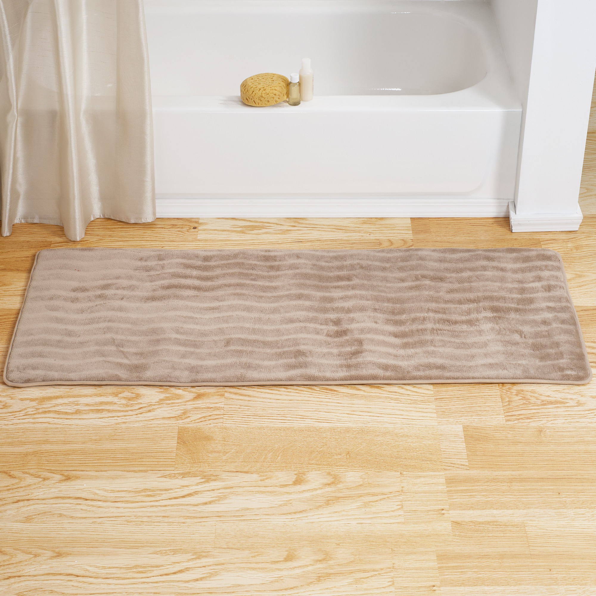 Windsor Home Memory Foam Extra Long Bath Rug Mat Taupe Overstock 10574665