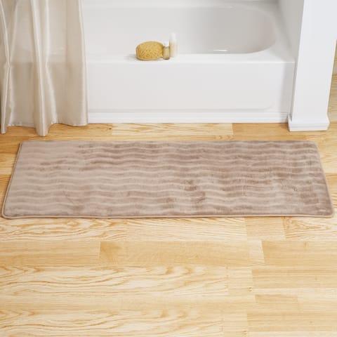 Windsor Home Memory Foam Extra Long Bath Rug Mat - Taupe