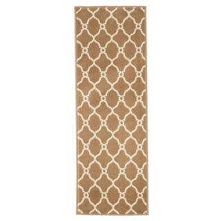 "Windsor Home Lattice Area Rug - Dark Beige & Ivory - 1'8""x5'"