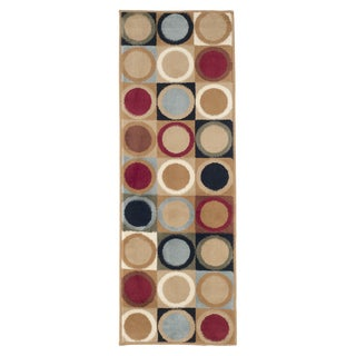"Windsor Home Contemporary Circles Area Rug - Multi-Color - 1'8""x5'"