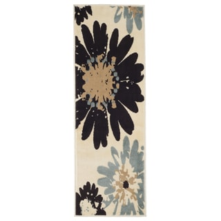 "Windsor Home Flower Area Rug - Blue & Ivory - 1'8""x5'"